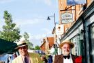 Pat Vaughan (right) pictured with his good friend Peter Fountain at Midsummer's day market in Hartley Wintney in June 2007