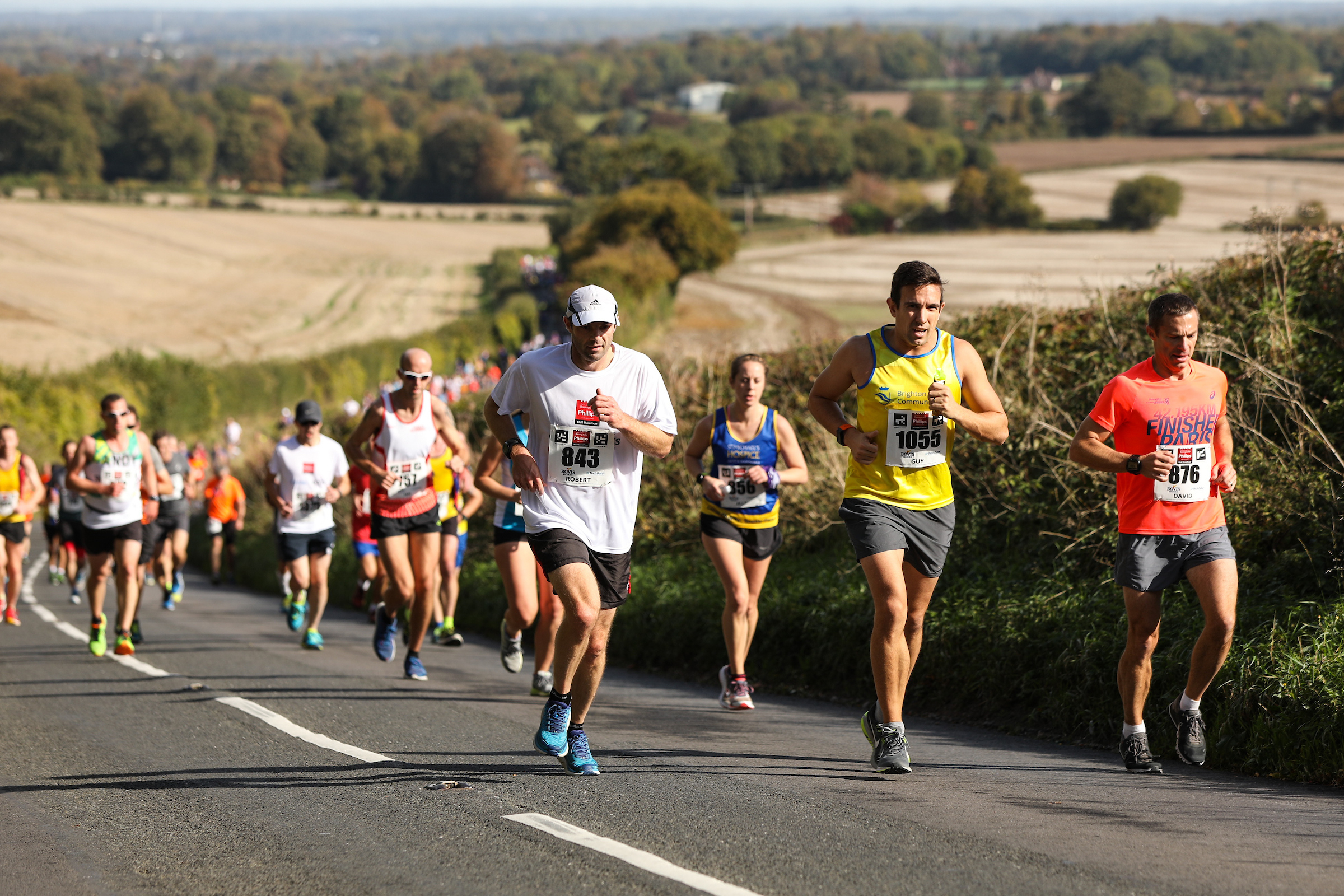 Runners at last year's half marathon