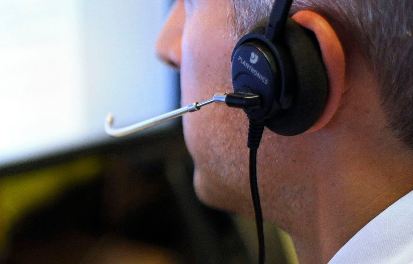 PICTURE POSED BY MODEL File photo dated 04/08/15 of an office worker on the phone as a claims management firm has been fined £220,000 after bombarding people with millions of nuisance calls.  ... Office worker stock ... 05-08-2015 ... London ...