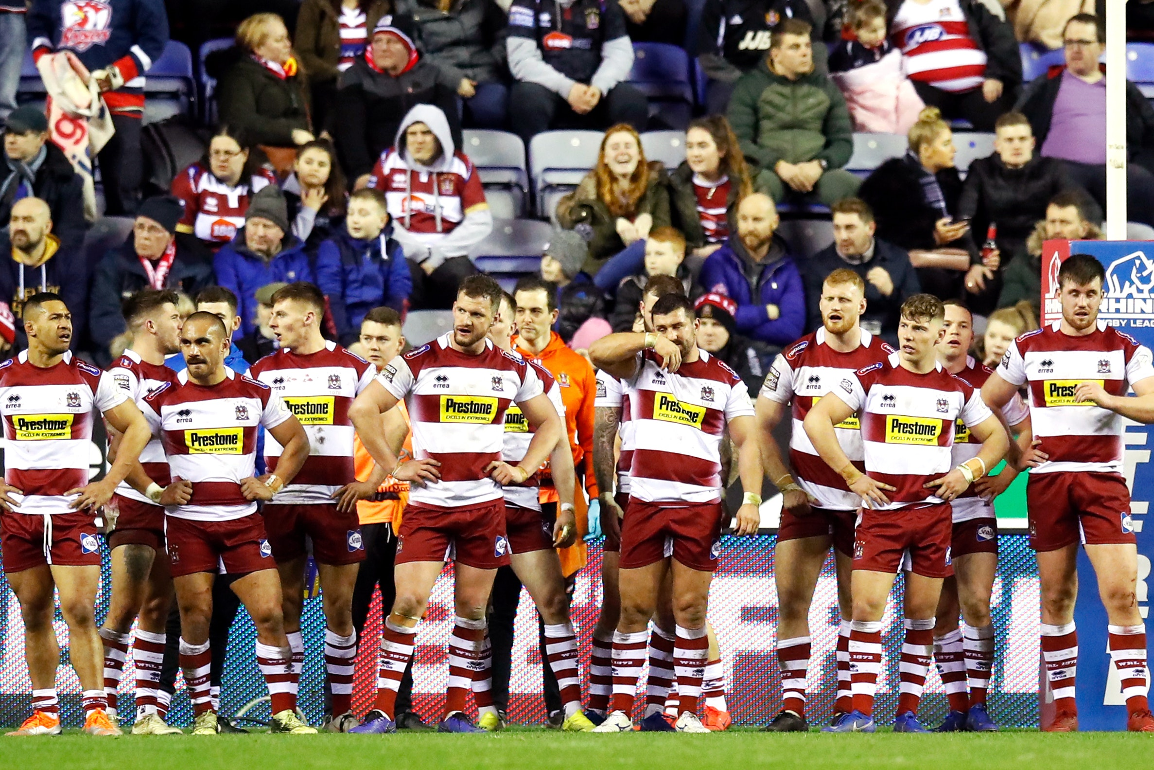 Wigan were well beaten at home