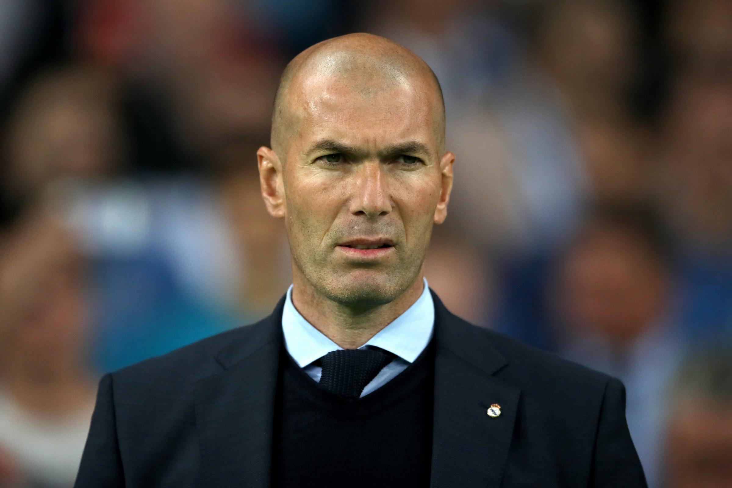 Zinedine Zidane, pictured, has been tipped to replace Maurizio Sarri