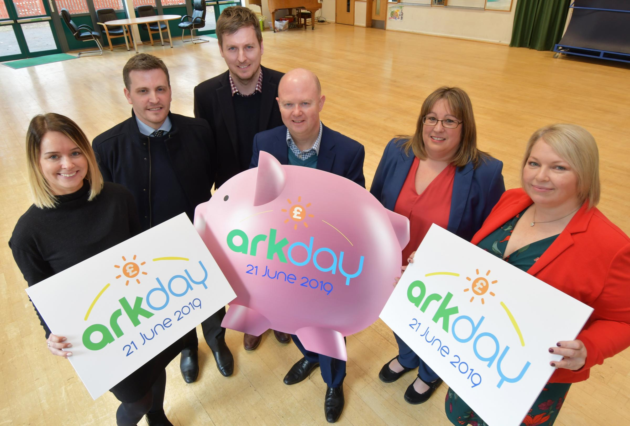 The Ark Day Organising Committee, from left, Hannah Perryman, Andy Jackson, Darren Lovegrove, Mark Jones, Debbie Loveridge and Jenny Francis. Image: Sean Dillow