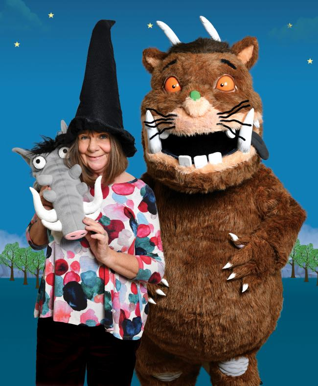 Julia Donaldson and her characters. Image: Steve Ullathorne
