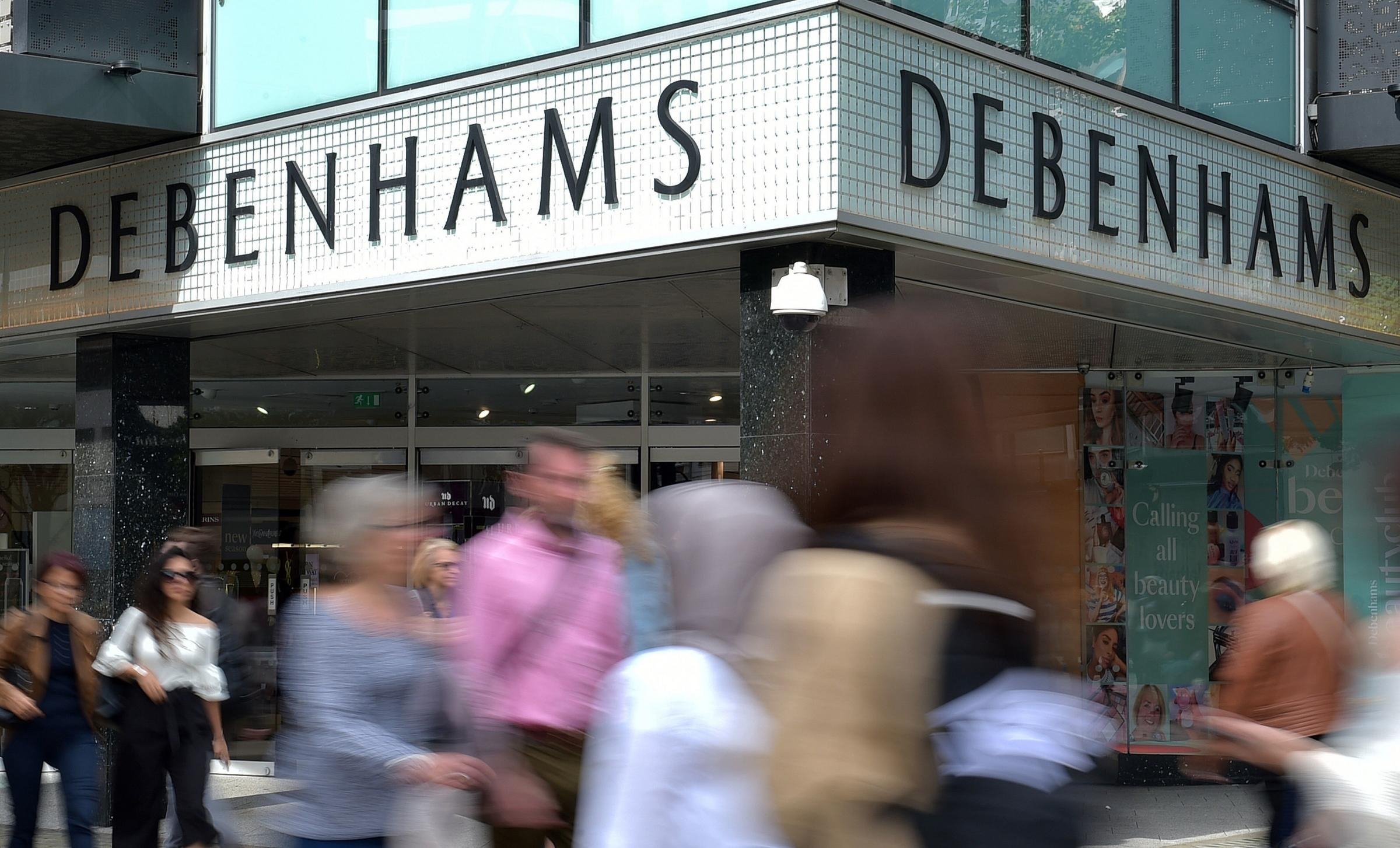File photo dated 10/09/18 of a Debenhams shop front. Mike Ashley's Sports Direct has made a revised £200 million rescue offer for the department store, delaying their likely administration. PRESS ASSOCIATION Photo. Issue date: Tuesday April 9, 2