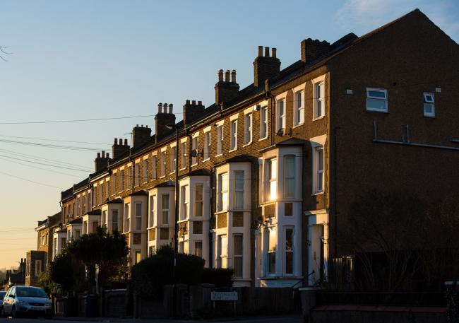 Terraced residential houses in south east London Picture: Dominic Lipinski/PA Wire