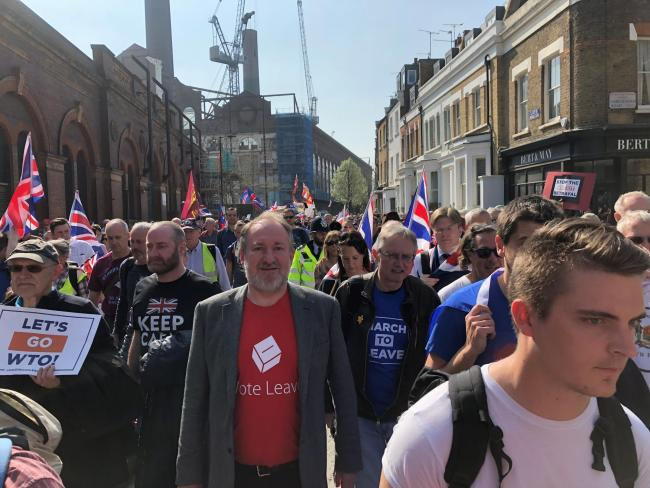 Alan Stone at the Brexit rally