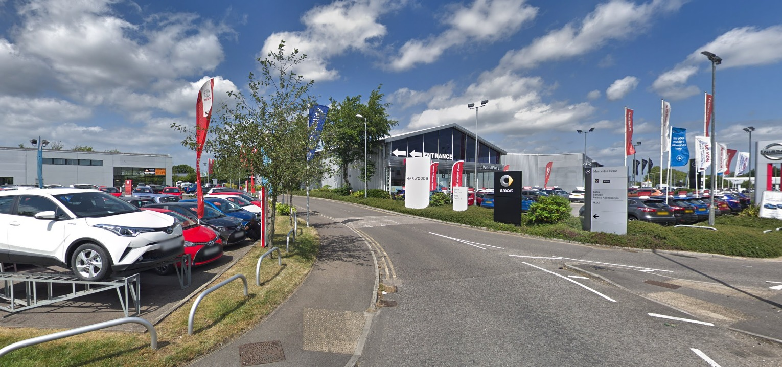 Car showrooms at Houndmills Industrial Estate. Image: Google Streetview