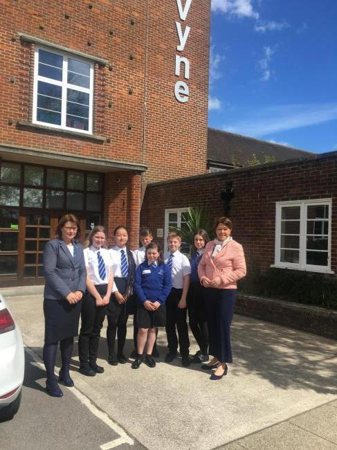 Maria Miller visits the Vyne Community School