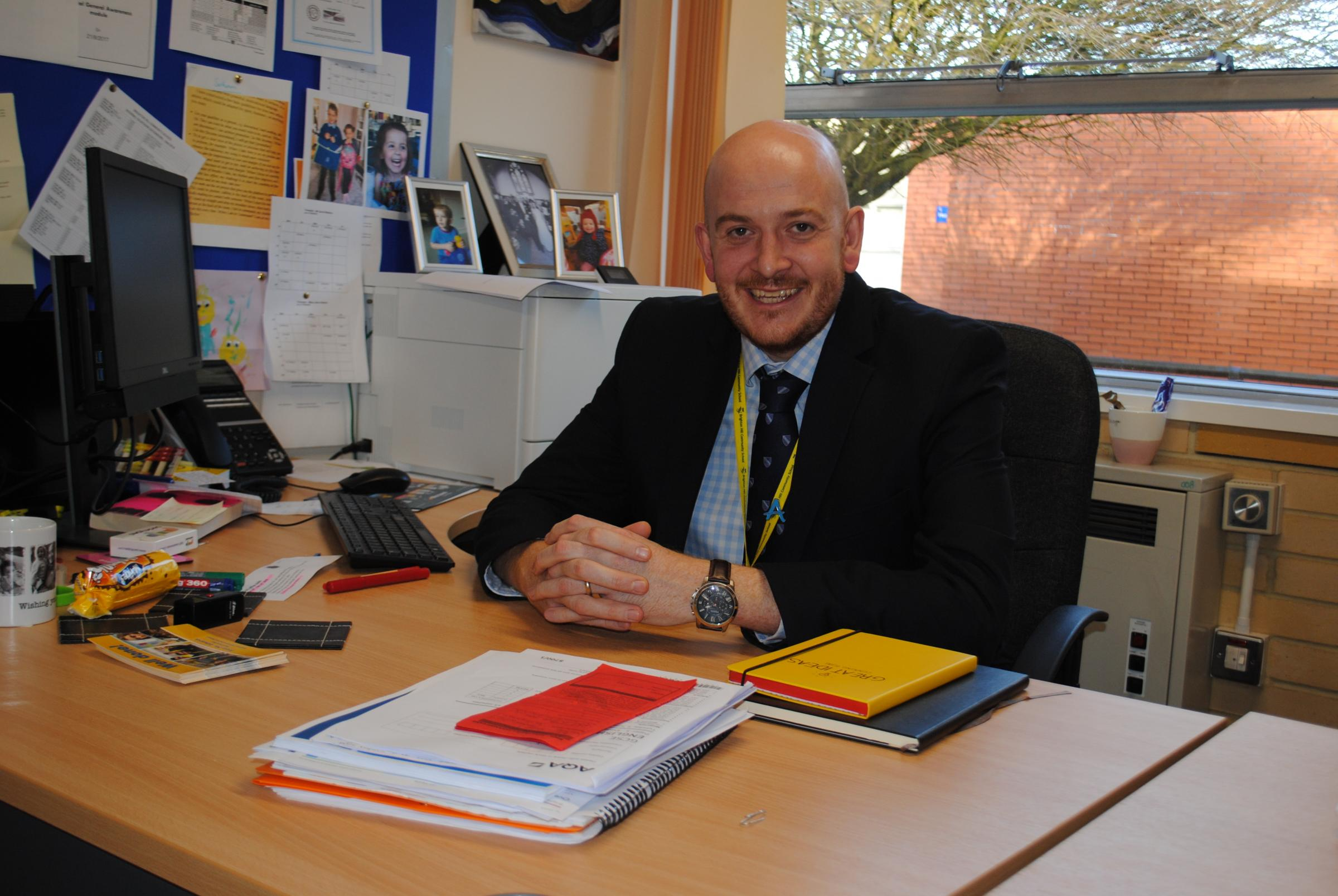 Chris Edwards, headteacher of Brighton Hill Community School