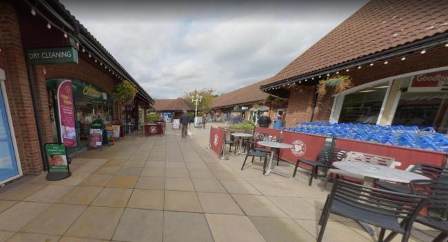 Chineham Shopping centre, google street view