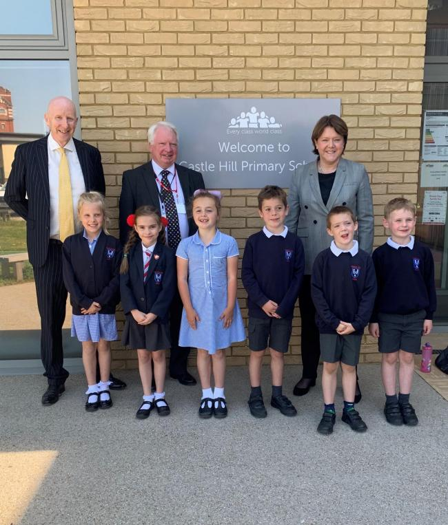 Pupils welcome Maria Miller Mp and Cllr Stephen Reid