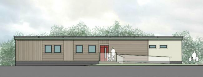 The proposed new building at the Knowlings